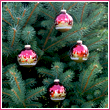Red Velvet Bethlehem Nativity Glass Ornament Balls - Set  of 8