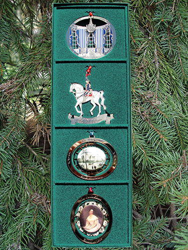 1990-1993 Set of Four White House Christmas Ornaments