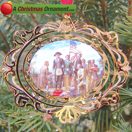 1994 George Washington Laying the Capitol Cornerstone Ornament