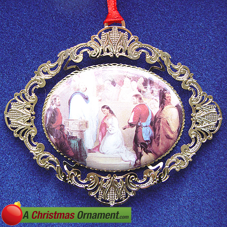 1997 Baptism of Pocahontas Ornament