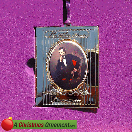 1999 White House Abraham Lincoln Christmas Ornament