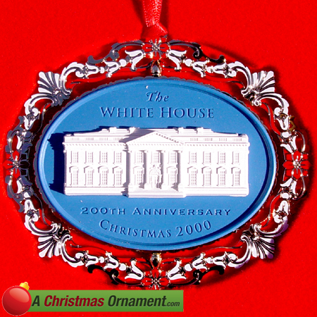 2000 White House 200th Anniversary Christmas Ornament