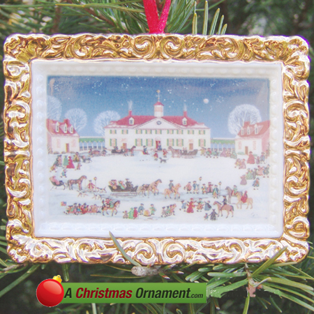 2000 A Joyful Group at Mount Vernon West Front Ornament