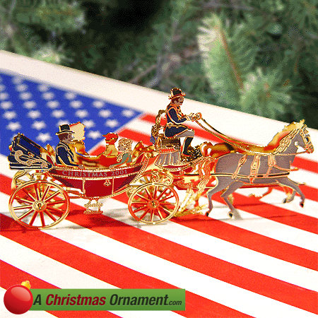 2001 White House Andrew Johnson Christmas Ornament