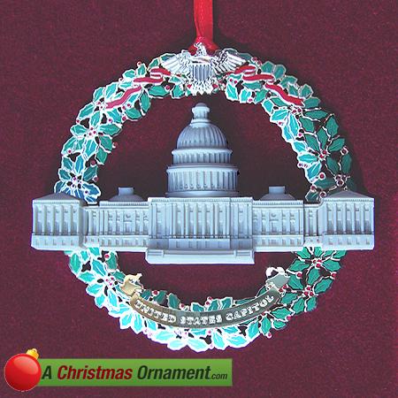 2003 Marble & Wreath Capitol Ornament