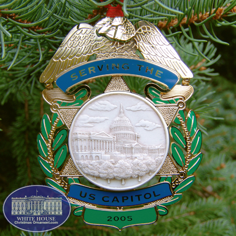 2005 U.S. Capitol Police Force Holiday Ornament