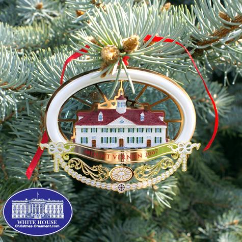 2007 Mount Vernon 275th Anniversary Ornament