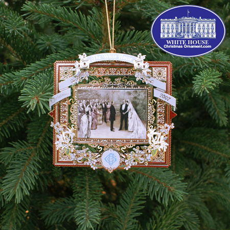 2007 White House Grover Cleveland Ornament - FIRST