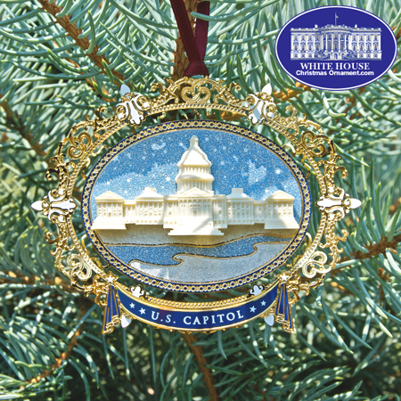 2008 U.S. Capitol Oval Marble Ornament