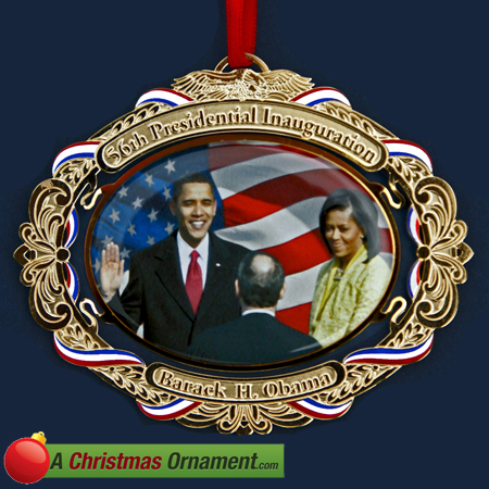 Barack Obama 56th Inauguration Ornament