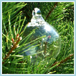 Clear Crystal Glass Three Inch Ornament Ball