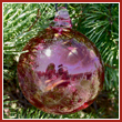 Cranberry Red Crystal Glass Three Inch Ornament Ball