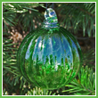 Lime Green Crystal Glass Optic Three Inch Ornament Ball