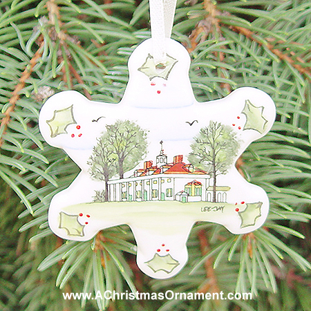 Mount Vernon Children's Christmas Ornament