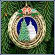 2010 US Capitol Dome and Tree Ornament