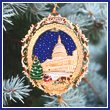 2011 Official U.S. Capitol Holiday Tree & Carriage Ornament
