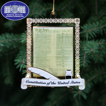 Official US Capitol US Constitution Ornament