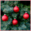 Flame Red Glass Ornament Balls - Set of 4