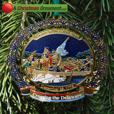 2010 George Washington Crossing the Delaware Ornament