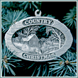 Pewter Country Christmas Ornament